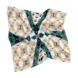 "Entomology Silk Pocket Square ""Vespa"""