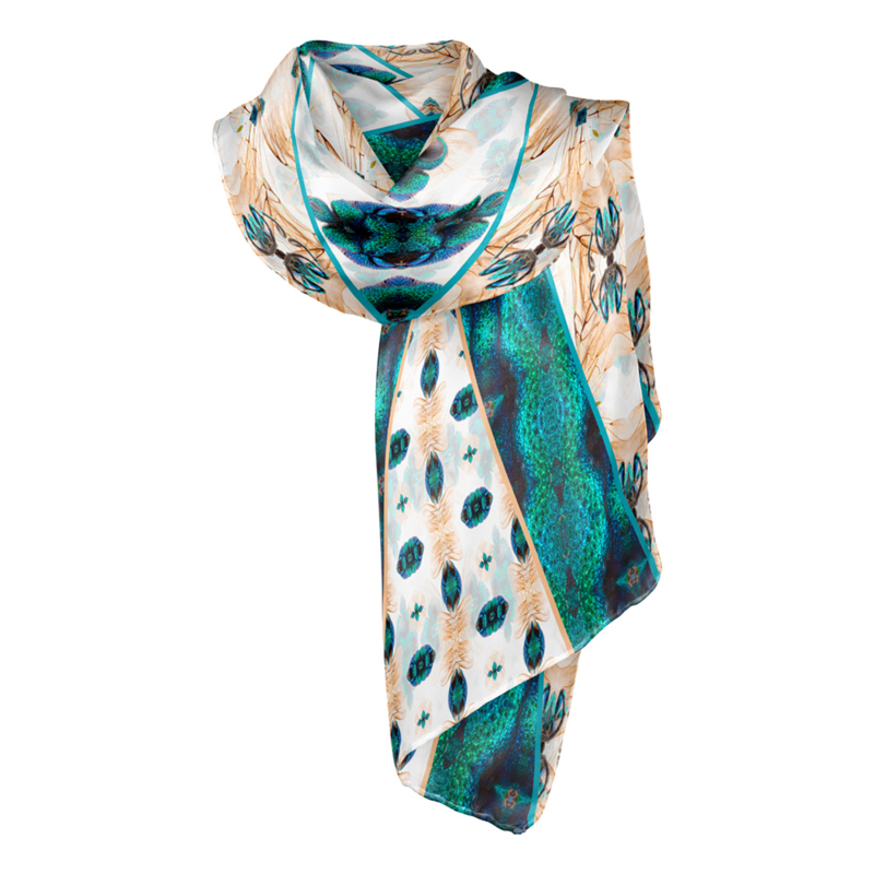 "Entomology Silk Scarf ""Vespa"""