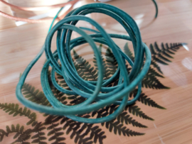 Lederen veter 2mm turquoise
