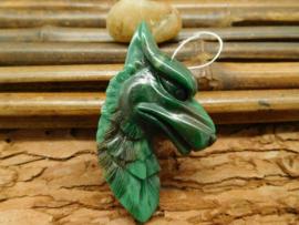 Wolven hanger jade