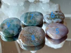 platte stenen mos agaat