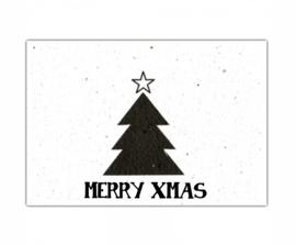 Bloeikaart kerstboom