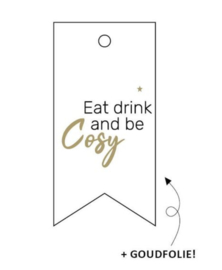 Label Eat, drink & be cosy