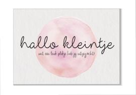 Hallo kleintje (roze)