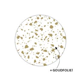 """Sticker """"Gespikkeld wit/goud"""""""