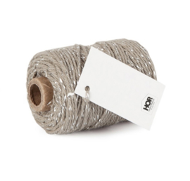 Bakertwine taupe/zilver