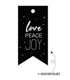 Label Love, peace & joy