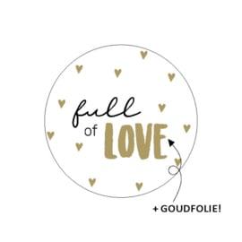 """Sticker """"Full of love"""""""