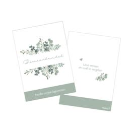 Eerste verjaardagswensen eucalyptus