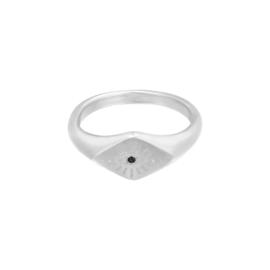 Boze Oog Ring Zilver