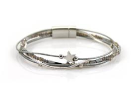 Armband met kraaltjes - Zilver