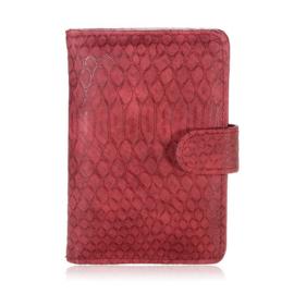 Paspoort hoesje Croco rood