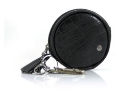 Sleutel-/ tassenhanger - Zwart