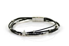 Armband met kraaltjes - Zwart