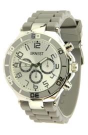 Ernest horloge - Lichtgrijs