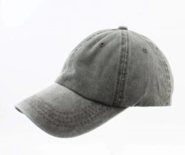 Cap washed denim kakhi groen
