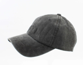 Cap washed denim zwart