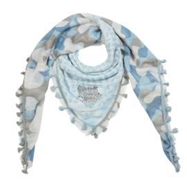 Sjaal camouflage- Blauw