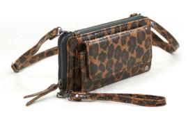 Portemonnee Leopard met voorvak