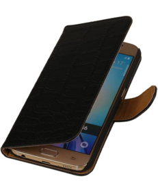 Croco booktype Samsung Galaxy S6 Zwart