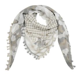 Sjaal camouflage- Beige
