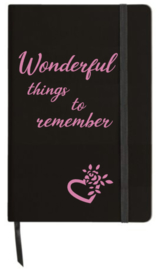 Notitieboekje 'Wonderful things'
