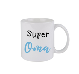 Super oma - blauw