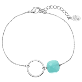 Armband Circle and Stone - Mint