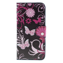 Butterfly flower wallet case Iphone 6/6s