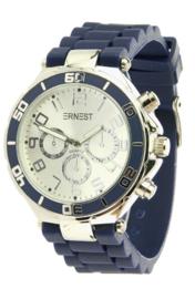 Ernest horloge - Donkerblauw