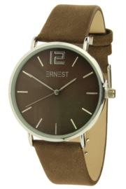 Horloge Ernest Silver - Bruin