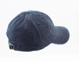 Cap washed denim donkerblauw