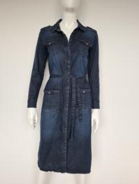 Blue Daze (Summum) denim jurk. Mt. 38. Blauw