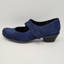 Durea sandalen. Mt. 6.5. Wijdte K. Blauw/suède.