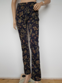 Pantalon Atelier Gardeur. Blauw/print.