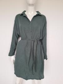 Circle of Trust Gina dress. Mt. M. Olijfgroen.
