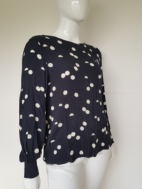 Blouse top Selected Femme. Mt. 42. Blauw/polkadots.