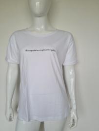 10Days shirt. Mt. 2. Wit/tekst.