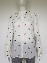 Scotch & Soda blouse. Mt. 4. Crème/print.