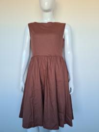 Lindy Bop jurk. Mt. 44. Bruin.
