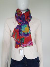 Prachtige multi color shawl.