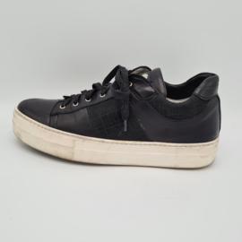 Shi's Sneakers. Mt. 40. Zwart/leer.