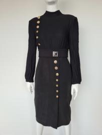 Elisabetta Franchi Passepartout dress. Mt. 40.  Zwart/goud.