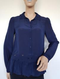 Zijden blouse Patrizia Pepe. Mt. 44. Blauw.