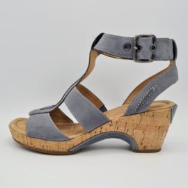 Gabor sandalen met hak. Mt. 39. Grijs/leer.