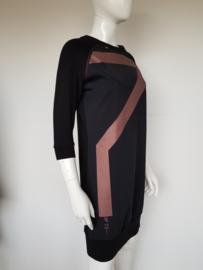 Sweater dress Zip 73. Mt. M. Zwart/bronskleurig.