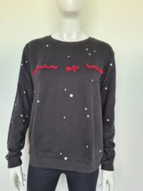 Circle of Trust sweater. Mt. XL. Zwart/sterren.