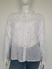 Kaffe blouse. Mt. 44. Wit/ sterrenprint.