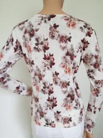 Vest Tom Tailor. Mt. M. Crème/bloemenprint