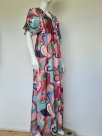 Dame Blanche maxi dress. Mt. S. All over print.